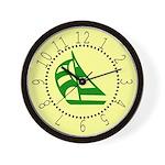 Green Sailboat Wall Clock