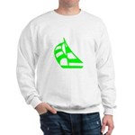 Green Sailboat Sweatshirt