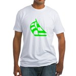 Green Sailboat Fitted T-Shirt