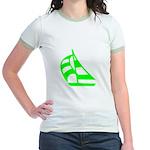 Green Sailboat Jr. Ringer T-Shirt