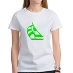 Green Sailboat Women's T-Shirt