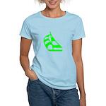 Green Sailboat Women's Light T-Shirt