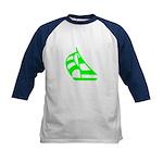 Green Sailboat Kids Baseball Jersey