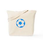 Blue Soccer Ball Tote Bag
