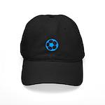 Blue Soccer Ball Black Cap