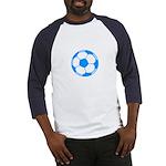 Blue Soccer Ball Baseball Jersey