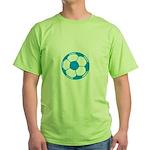 Blue Soccer Ball Green T-Shirt