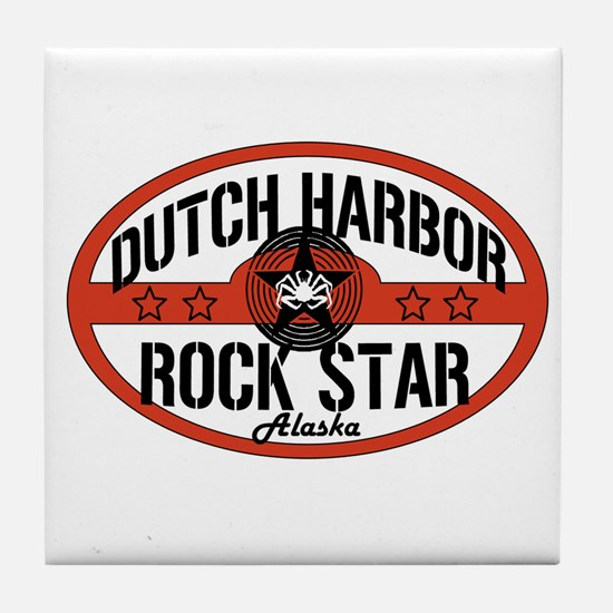 Dutch Harbor Rock Star Tile Coaster