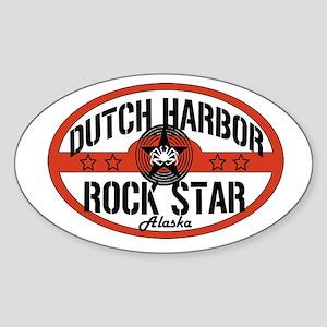 Dutch Harbor Rock Star Oval Sticker