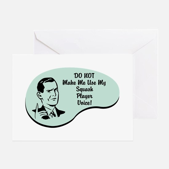 Squash Player Voice Greeting Card