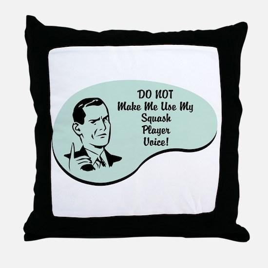 Squash Player Voice Throw Pillow