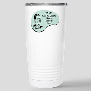 Speech Therapist Voice Stainless Steel Travel Mug