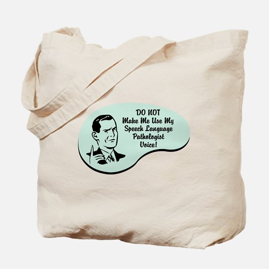 Speech Language Pathologist Voice Tote Bag