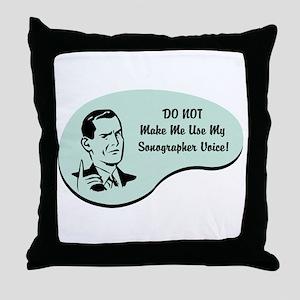 Sonographer Voice Throw Pillow