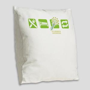Eat Sleep Flower Arranging Rep Burlap Throw Pillow