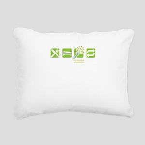 Eat Sleep Flower Arrangi Rectangular Canvas Pillow
