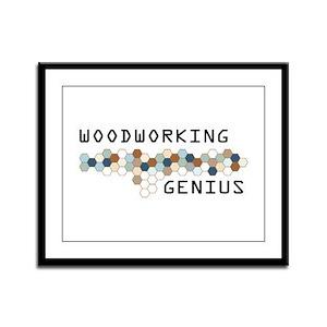 Woodworking Genius Framed Panel Print