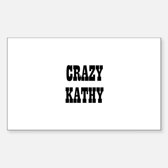 CRAZY KATHY Rectangle Decal