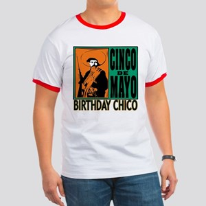 Cinco de Mayo Birthday Chico Ringer T