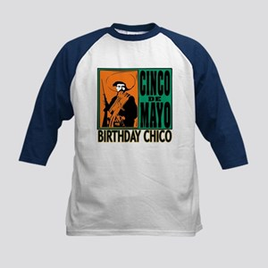 Cinco de Mayo Birthday Chico Kids Baseball Jersey