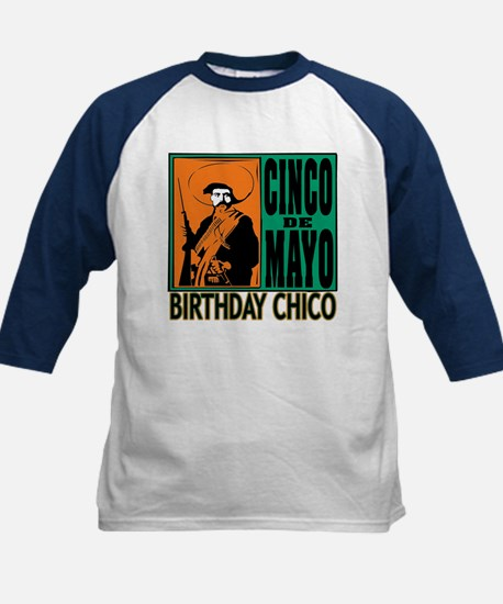 Cinco de Mayo Birthday Chico Kids Baseball Jersey