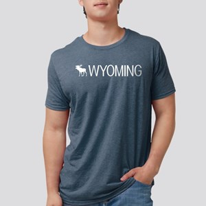 Wyoming: Moose (White) Women's Dark T-Shirt