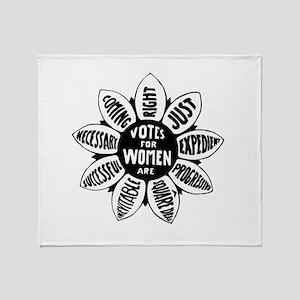 Votes For Women Historical design Throw Blanket