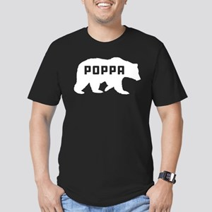 Poppa Bear Men's Fitted T-Shirt (dark)