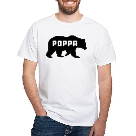 Poppa Bear White T-Shirt
