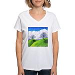 California Spring Women's V-Neck T-Shirt