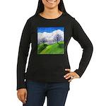 California Spring Women's Long Sleeve Dark T-Shirt