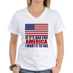 I want it to fail Women's V-Neck T-Shirt