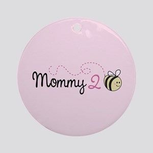 Mommy To Bee Ornament (Round)