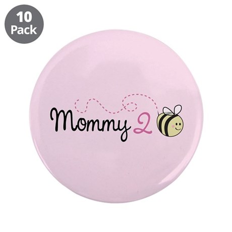 """Mommy To Bee 3.5"""" Button (10 pack)"""