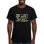 Help! Men's Fitted T-Shirt (dark)