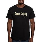 Damn Skippy Men's Fitted T-Shirt (dark)