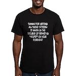Thanks Men's Fitted T-Shirt (dark)