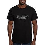 Cat totem, mouser Men's Fitted T-Shirt (dark)