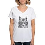 Cat Totem Women's V-Neck T-Shirt