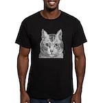 Cat Totem Men's Fitted T-Shirt (dark)