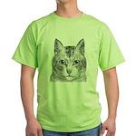 Cat Totem Green T-Shirt