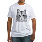 Cat Totem Fitted T-Shirt