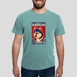 Obey the SIBERIAN HUSKY! Ash Grey T-Shirt