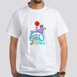 OK-9 (Basketball) White T-Shirt