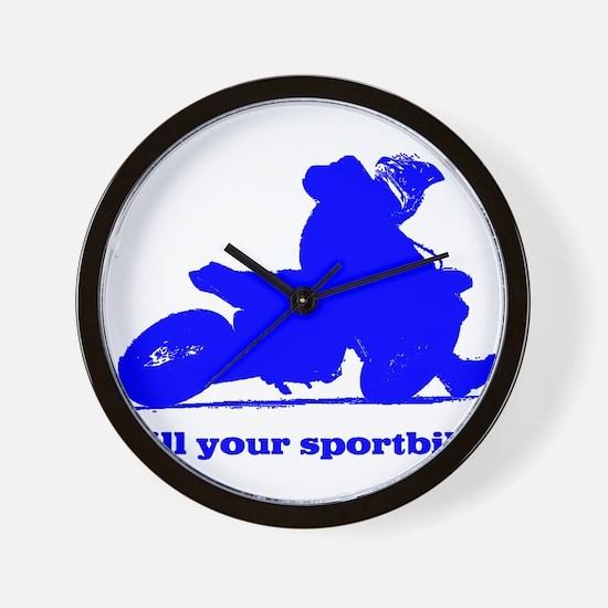 yamaha blue kill your sportbi Wall Clock