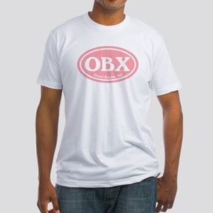OBX Pink Outer Banks Fitted T-Shirt