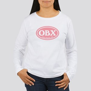 OBX Pink Outer Banks Women's Long Sleeve T-Shirt