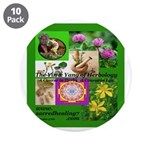 """Sacred Healing 7 3.5"""" Button (10 pack)"""