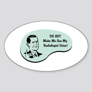 Radiologist Voice Oval Sticker