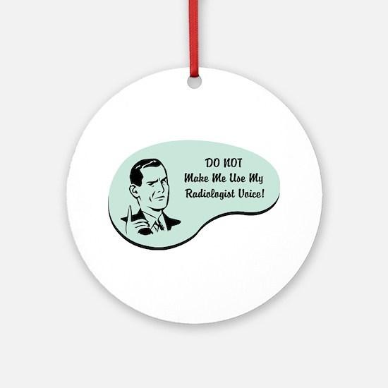 Radiologist Voice Ornament (Round)